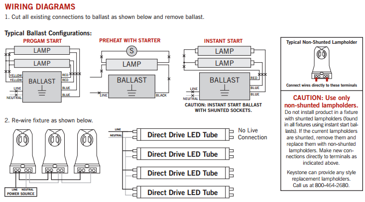 KT LED18T8 48P Diagram dlc listed 48\