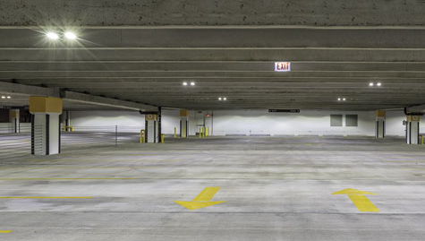 MaxLite Parking Garage Square Canopy Light in Use : parking canopy lighting - memphite.com