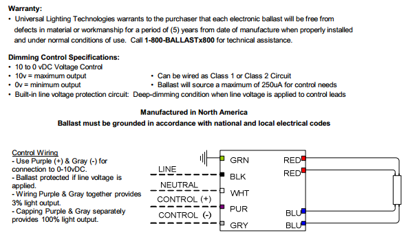 Universal B114PUNVSV3 Wiring Diagram universal superdim energy management b128punvsv3 d 1 lamp f28t5 dimming ballast wiring diagram at bayanpartner.co