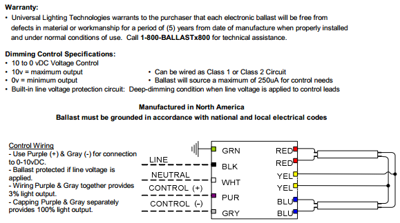 Universal B214PUNVSV3 D Wiring Diagram universal superdim energy management b214punvsv3 d 2 lamp f14t5 lutron 0-10v dimmer wiring diagram at bayanpartner.co
