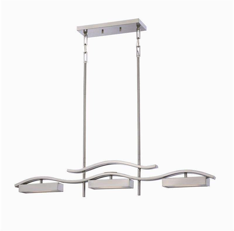 NUVO Lighting Inspire 62 115 Wave Series LED Collection Brushed Nickel LED Ho