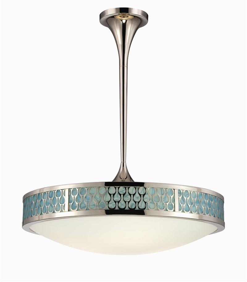 NUVO Lighting Inspire 62 141 Raindrop Series LED Collection Polished Nickel L