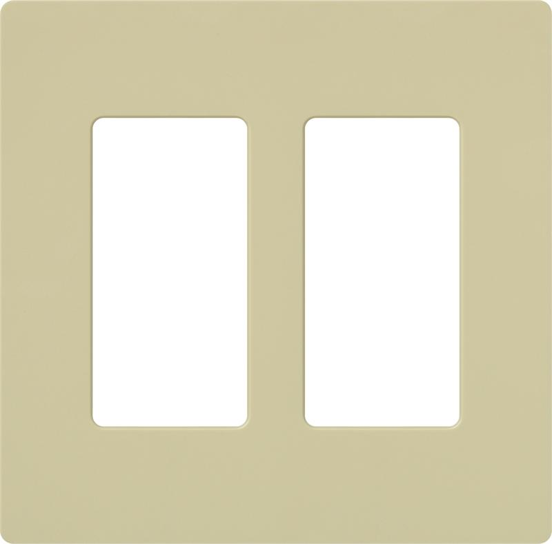 Lutron Claro Cw 2 Iv Ivory Two 2 Gang Decorator