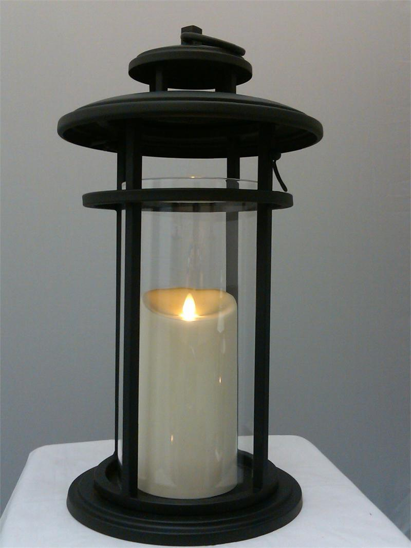 Luminara Flameless Candle Battery Powered Outdoor Black