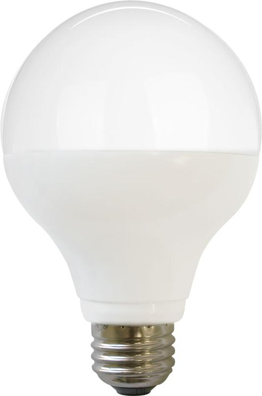 Litetronics LD10536FR7D - 10 Watt Frosted G25 Globe Decorative LED E26 Medium Base - Dimmable ...