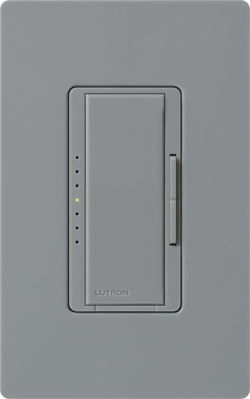 lutron macl 153m gr gray maestro cl dimmable cfl or led dimmer switches for single pole or 3 way. Black Bedroom Furniture Sets. Home Design Ideas