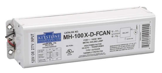 MH100XDFCAN keystone technologies mh 100x d fcan 100 watt m90 120 277 volt 100 watt metal halide ballast wiring diagram at couponss.co