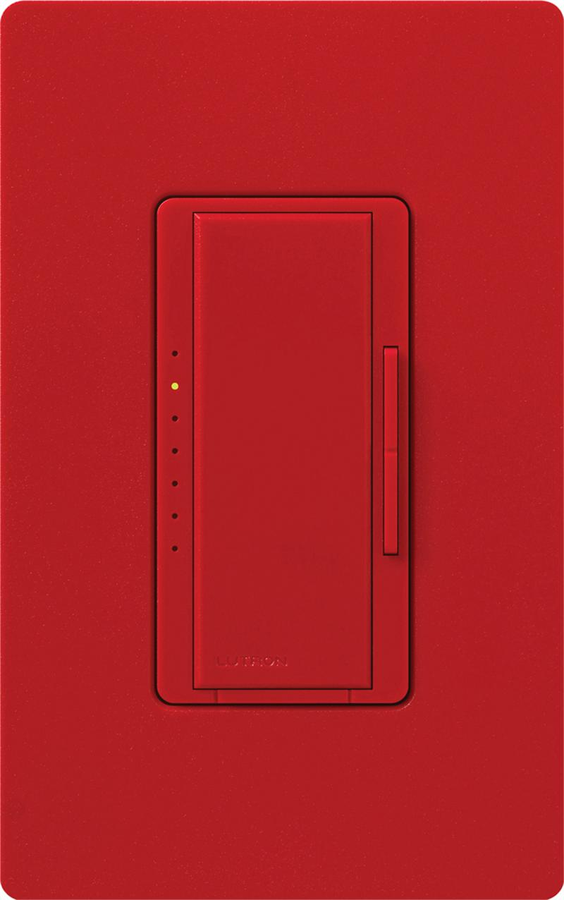 lutron macl 153m ht hot red maestro cl dimmable cfl or led dimmer switches for single pole or 3. Black Bedroom Furniture Sets. Home Design Ideas