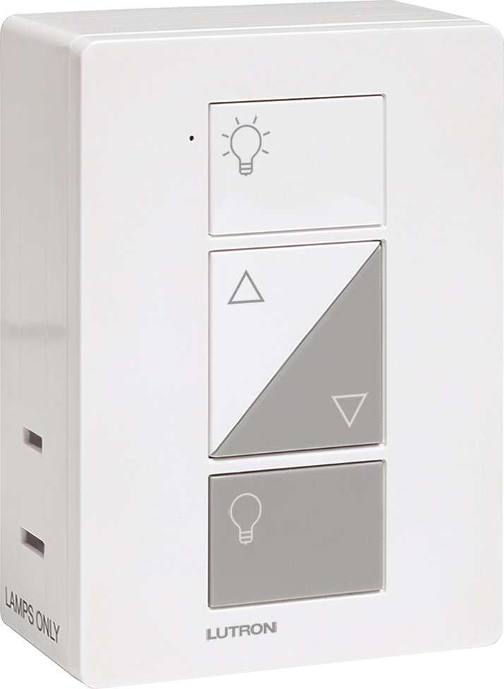 lutron caseta pd 3pcl wh plug in wireless dimmer switch white finish lutr. Black Bedroom Furniture Sets. Home Design Ideas