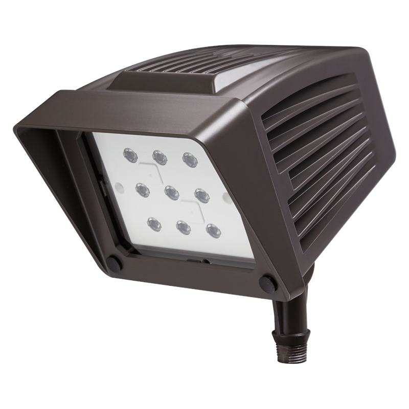 120 Volt Outdoor Led Light: Atlas PFS22LEDPC DLC Listed 22w LED Flood Light 4500k