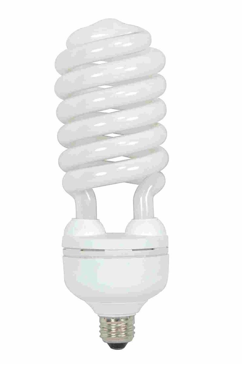 Satco s7339 daylight 5000k 55 watt 120 volt e26 medium base compact fluorescent light Fluorescent light bulb
