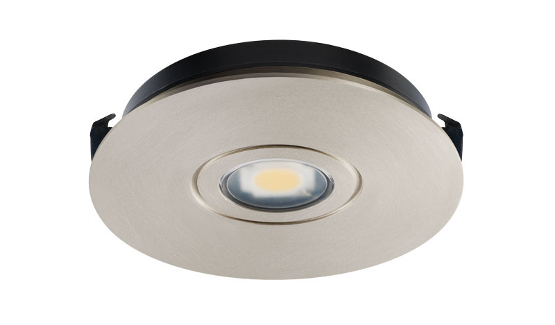 Juno lighting ustlr1 30k 80cri sn satin nickel 12v recessed led solo led recessed puck 3000k nickel aloadofball Image collections