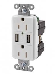 Hubbell Bryant Dual USB Duplex Receptacle