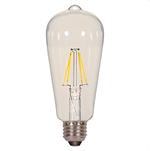 Satco ST19 Clear Antique Filament Light Bulb