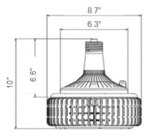 LED-8132M LED High Bay Retrofit