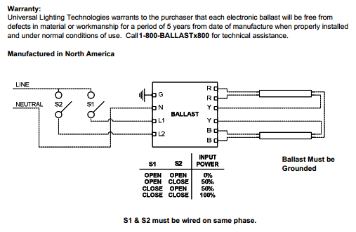 Universal Lighting Technologies BallaStar Energy Management ... on lamp ballast wiring diagrams, universal headlight switch wiring diagram, sign ballast wiring diagrams, universal ballasts cross reference, closet grow room diagrams, fluorescent ballast wiring diagrams, transformer connection diagrams, emergency ballast wiring diagrams, electronic ballast diagrams, fluorescent ceiling light fixtures diagrams, osram ballast wiring diagrams, workhorse ballast wiring diagrams, hps ballast wiring diagrams, universal generator wiring diagrams, universal lighting ballast hp's 1503a, universal ballasts for fluorescent lights, 2 light ballast wiring diagrams, hid ballast wiring diagrams, advance ballast wiring diagrams,
