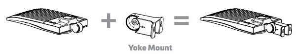 EiKO Area Light Yoke Mount