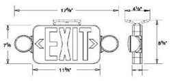 LED Emergency Exit Combo