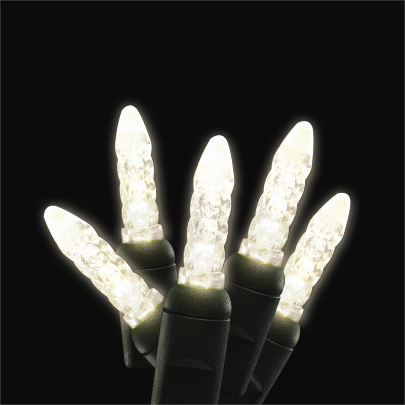 Warm White Led Traditional M5 Mini Shaped Commercial Christmas Holiday String Lights