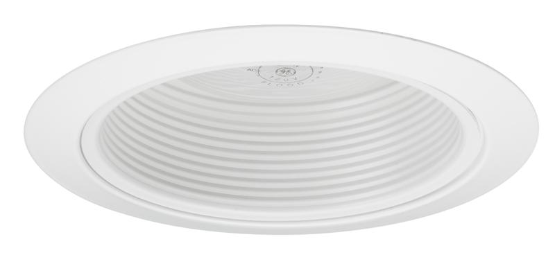 Juno lighting 215w wh 5 inch white baffle with white trim ring juno 5 recessed light trim aloadofball Image collections