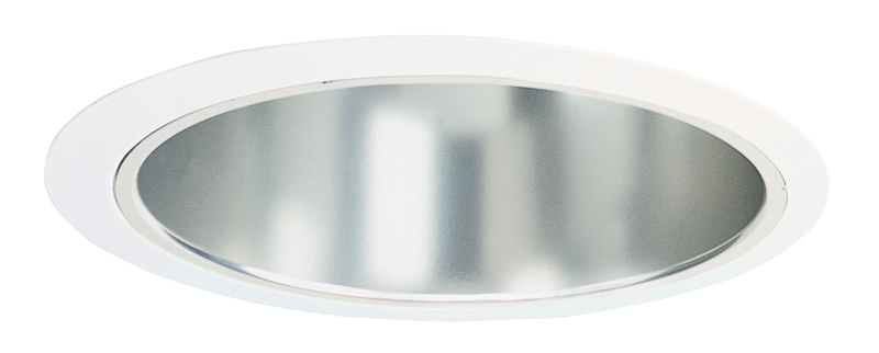 Juno Lighting 232 Cwh 232c Wh 6 Inch Downlight Round Torsion Spring A Lamp Reflector Trim Clear Alzak Reflector With White Trim Ring For Ic2 Ic23 Series Or Tc2 Tc2r Juno Recessed 6 Inch