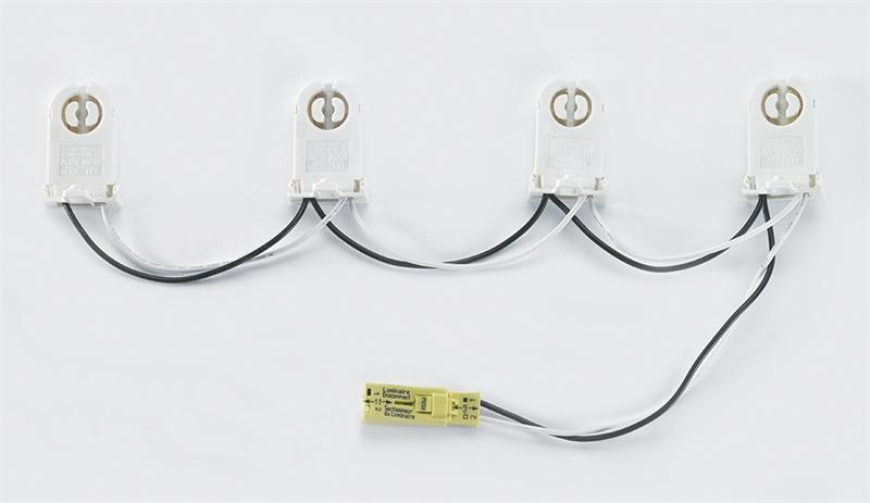 [FPWZ_2684]  Two (2) socket standard non-shunted wiring harness with power quick  disconnect - LED T8 tube light pre-wired tombstone harness for retrofit and  replacement applications at Green Electrical Supply | Candelabra Wiring Harness |  | Green Electrical Supply