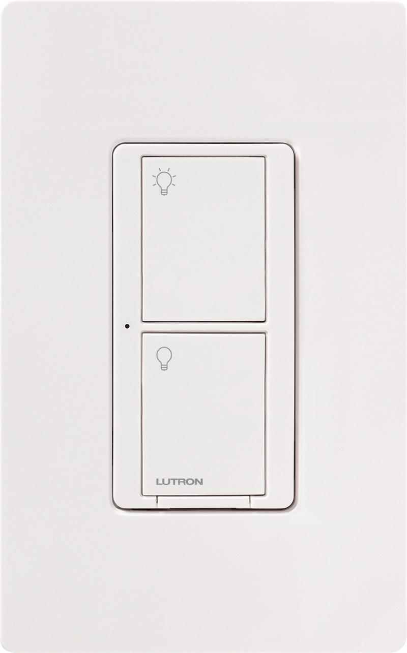 Lutron caseta pd 5ws dv wh in wall wireless light switch white caseta in wall light switch wh aloadofball Choice Image