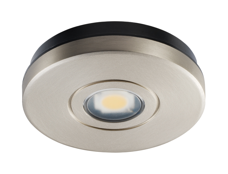 Juno lighting ustl1 30k 80cri sn satin nickel 12v led solo task led puck light 3000k nickel mozeypictures Gallery