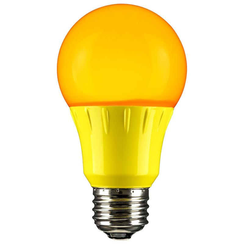 Sunlite A19/3W/Y/LED (80149-SU) - Yellow A19 LED Party Light Bulb - 120V  E26 Medium Base 70 Lumen - Not dimmable - LED Party Light Bulbs at Green  Electrical Supply