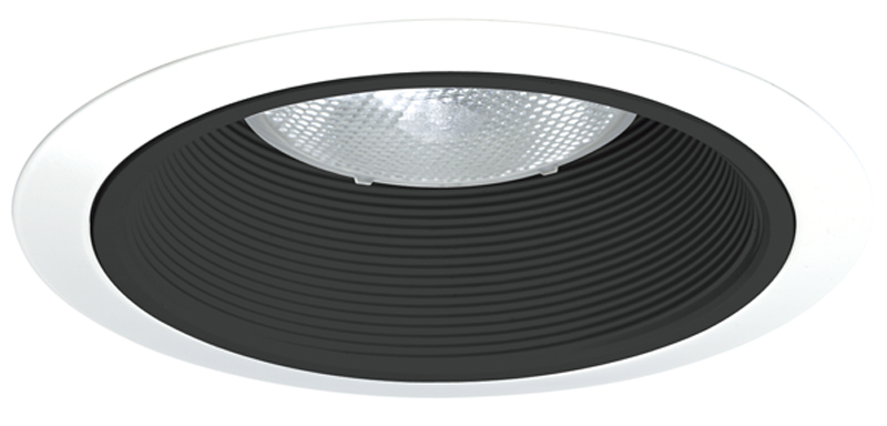 Juno Lighting 24 Bwh 6 Inch Black Baffle With White Tapered Trim Ring Recessed Lighting Trim At Green Electrical Supply