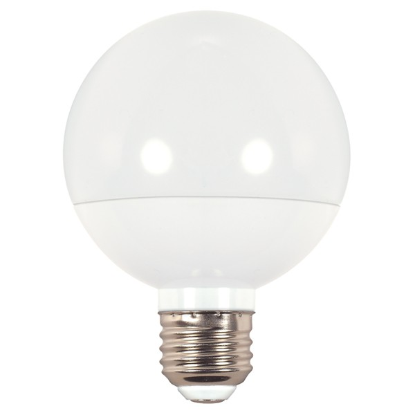 Satco S9202 6w Dimmable 4000k Led G25 Globe Replacement Light Bulbs With White Finish 4000k Cool White Led Vanity And Home Lighting Bulbs At Green Electrical Supply
