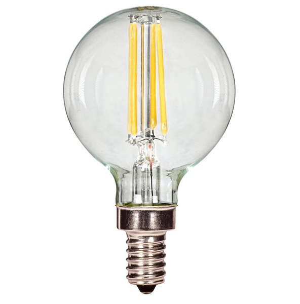 Satco S9870 Edison G16 5 Globe Clear Led Vintage