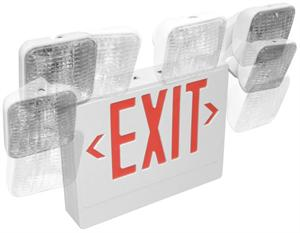 Red Letter LED Exit Emergency Combination
