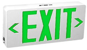Green Letter LED Exit Signs