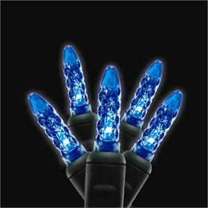 Blue Led Traditional M5 Mini Shaped Commercial Christmas Holiday String Lights