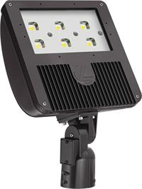 Lithonia D-Series Size 3 LED Flood with Slipfitter Mount