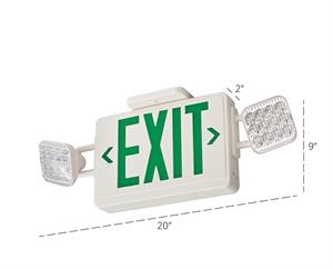 Lithonia ECG Emergency Exit Sign/Lighting Combo