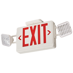 Lithonia ECR Emergency Exit Sign/Lighting Combo