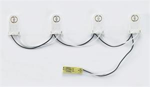 Keystone 4 socket non-shunted wiring harness
