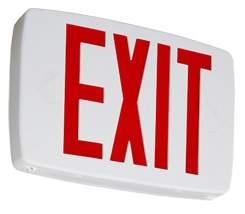 Lithonia LQM LED Red Exit Sign