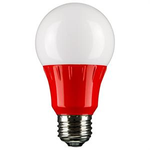 Red Led A19 Party Light Bulb