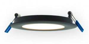 Lotus LED 4 Inch 3000k Round Super Thin Recessed LED Black