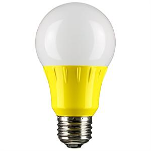 Yellow LED A19 Party Light Bulb