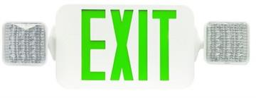 Morris Products LED Emergency Light Exit Sign Combo