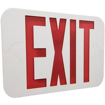 Morris LED Red Exit Sign AC ONLY