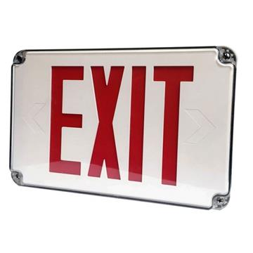 Wet Location Exit Sign with Green Letters