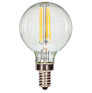 Satco G16.5 Clear LED Vintage Filament Light Bulb