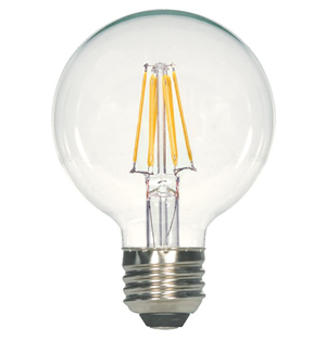 Satco G25 Clear Led Antique Filament Light Bulb