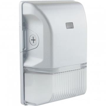 Satco LED Small Wall Pack with Photocell White Finish