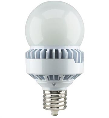 Satco S13110 Dlc Listed 35 Watt Non Dimmable Enclosed Rated A25 Led Light Bulb 5000k Natural Light 4830 Lumen 120 277v Ex39 Base Replacement For 150w Halogens And Ceramic Metal Halides At